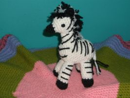 Crochet Zebra by ShadowOrder7