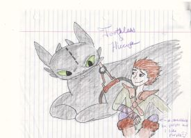 Toothless and Hiccup II by strangmusicobsession