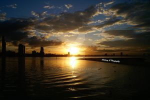 Sunset in Brisbane by anthonyau