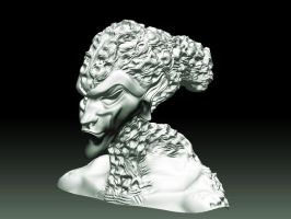 MY FIRST ZBRUSH HEAD SIDE by DIVERCITYSTUDIOS