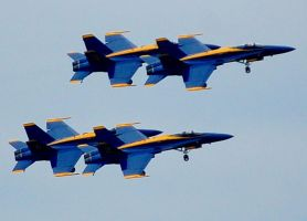 Blue Angels over Seattle by Momofbjl