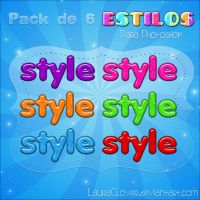 Pack de 6 estilos by LauraClover