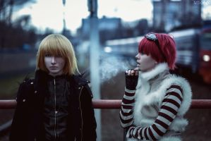 Cosplay: Mello and Matt by pollypwnz