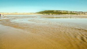 Blue Skies Overlooking Newton Beach July 2012 by welshrocker