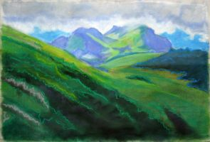 mountain still life by T-Nelly