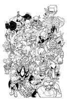 SONIC UNIVERSE 75 Varient Cover inks by SKY-BOY