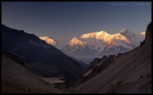 Sunrise on the Gungang Himal by Dominion-Photography