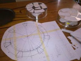 Blueprints for the stargate cake... by RosalindRed