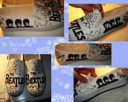 Beatles B and W Shoes by beccaecka