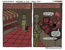30 Days Comic Challenge Day 13 Small Talk by JesseAcosta