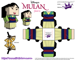 Disney Princess Mulan Cubeecraft template pt2 by SKGaleana
