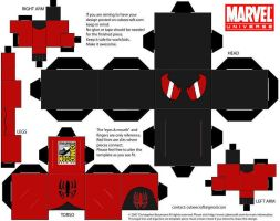 Scarlet Spider Kaine cubee SDCC 2012 exclusive by spiderfan05