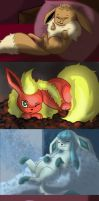 sleepy eeveelution by monakaliza