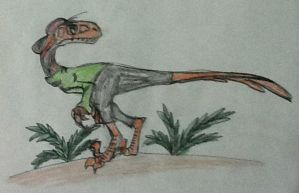 Kevin the Dromaeosaurus by DinoBirdMan