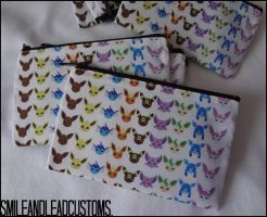 Eeveelution 3DS/XL Pouches: FOR SALE by SmileAndLead