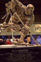 Detroit Red Wings - Ted Lindsay Statue by VampireBree