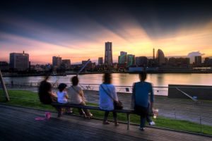 Yokohama Sunset by geolio