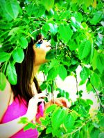 through the leaves. by skullxxdoll