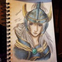 Warrior Of Light:: Color Sketch :: Dissidia by Kastella72