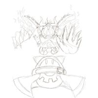 Magolor Soul REBORN (Sketch) by LunarHalo24