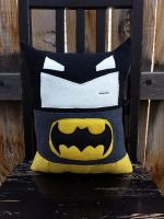 batman pillow by Telahmarie