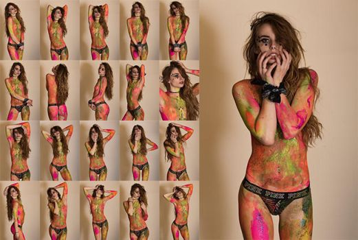 Heather Renee bodypaint stock photo set 21x by IMKamera
