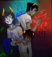 Like Toy Soldiers. homestuck by smallfry16