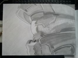Master Chief finished by RowenaPunainen