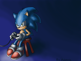 Sonic plays Megadrive by ThePandamis