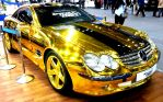 Gold Chrome Mercedes Roadster by toyonda