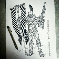 Alpha Titan with Universal Remote by KobOneArt
