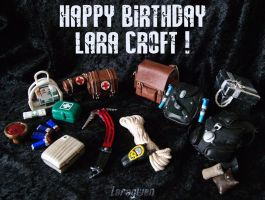 Happy Birthday Lara Croft ! (2015) by Laragwen