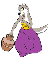 Aleu - The Wolf Girl Cub by PetitAnge2