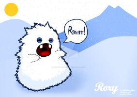 Rory the Yeti vectoranimals by Greencherryplum