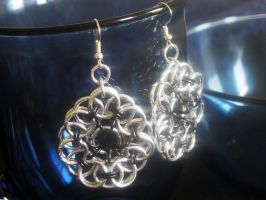 Chainmaille Earrings by Lassarina-Jewelry