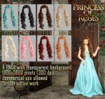 Princess of Roses HAIR STOCK by Trisste-stocks