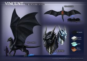 Black Dragon Reference Sheet by sannamy