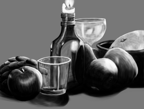 Grayscale Still Life by TaoKyuubimon