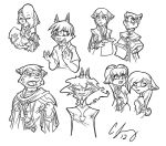 Character Doodles by Candy-Janney