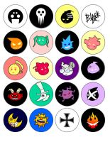 Soul Eater Buttons by CAQE