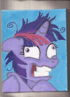 Twilight Sparkle acrylic on canvas portrait by Pwnyville