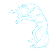 Wolf Sketch Thing by InsaneRoman