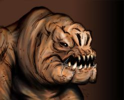 Gerald the Rancor by TerribleToadQueen