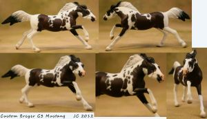 Custom Breyer SM G3 Mustang Bay Pinto by illuminatedface