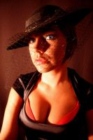 Drea with Hat and Net by StilettoStudios