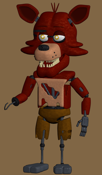 Mini Foxy the Pirate by W3IRDR3D