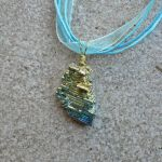 Escher's Sky - Bismuth Pendant by magpie-poet
