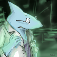 Whitefin in the Labs by Sizab