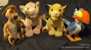Disney Store 2010 Timon, Nala, Simba, and Zazu by TygonCub