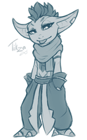 Tikza being Tikza (sketch) by Juriia
